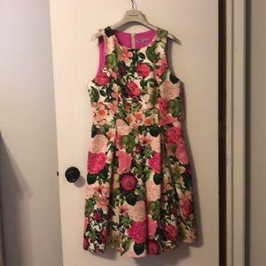 Eliza J tea-length dress with pockets